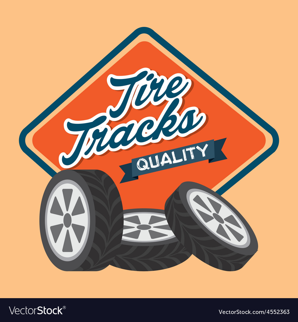 Tire tracks vector | Price: 1 Credit (USD $1)
