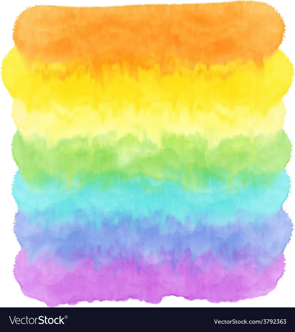 Watercolor rainbow vector | Price: 1 Credit (USD $1)