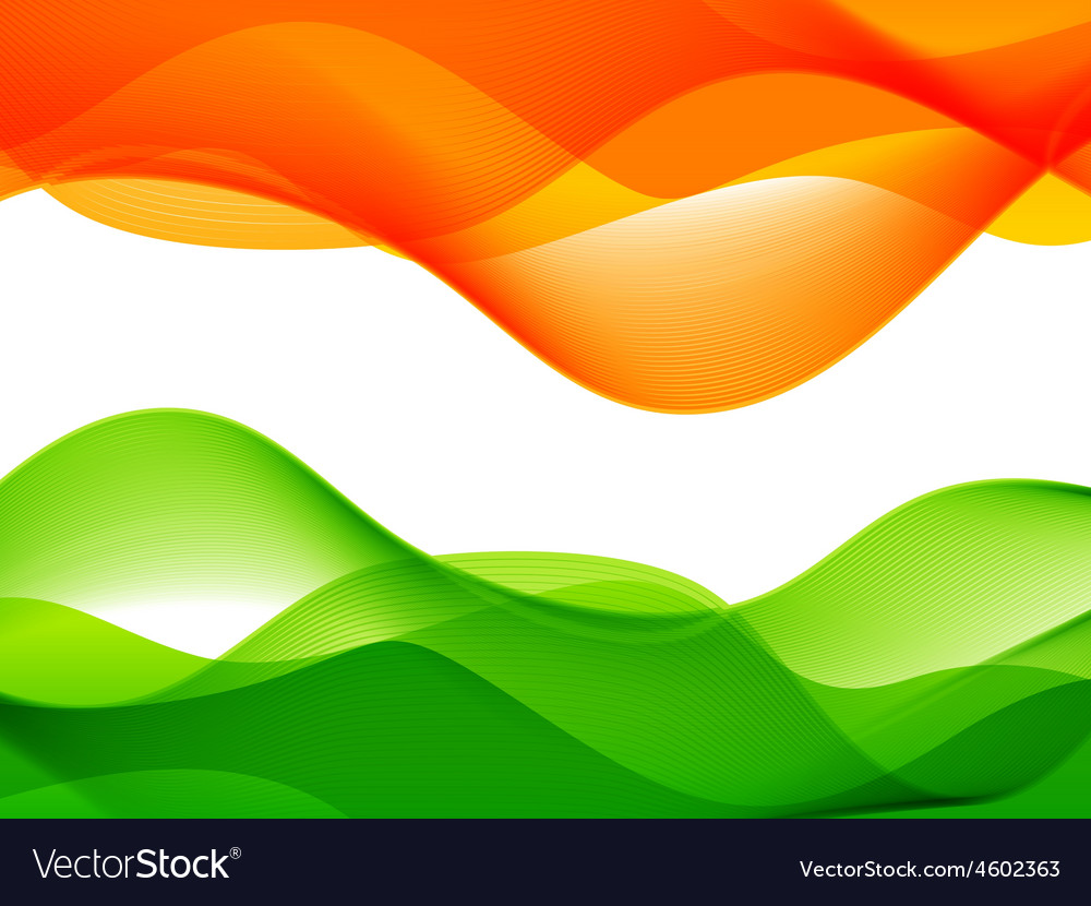 Wave style indian flag design vector | Price: 1 Credit (USD $1)