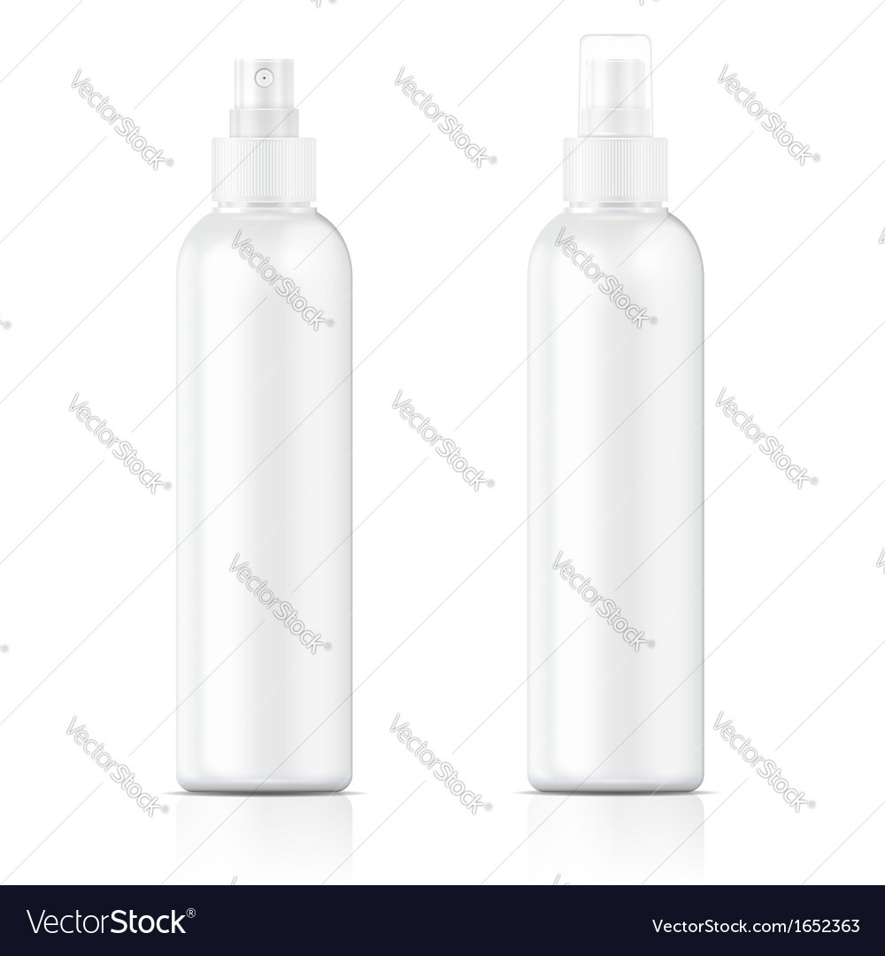 White sprayer bottle template vector | Price: 1 Credit (USD $1)