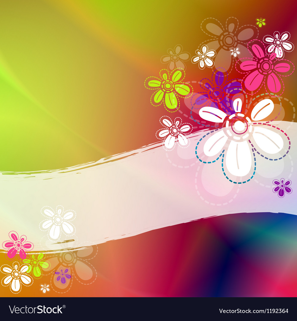 Colorful floral frame vector | Price: 1 Credit (USD $1)