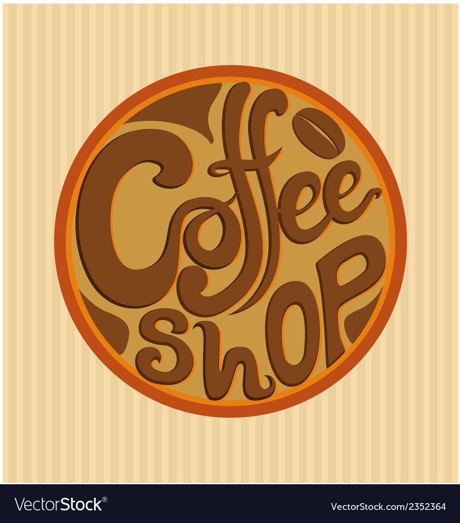 Hand drawn coffee shop logo vector | Price: 1 Credit (USD $1)