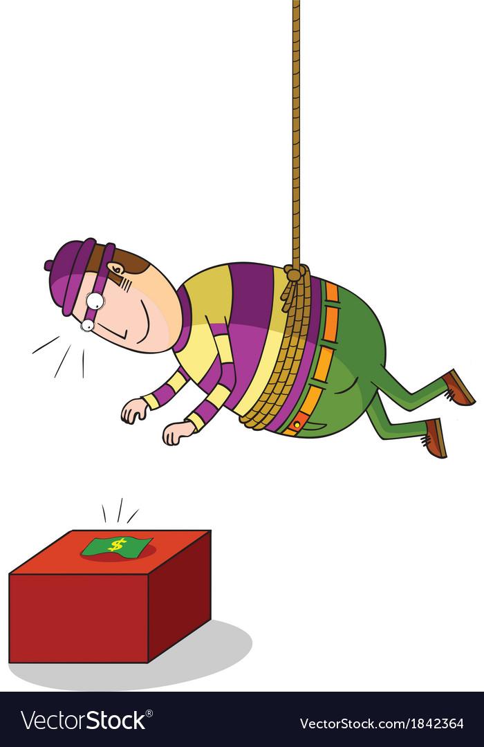 Hanging thief vector | Price: 1 Credit (USD $1)