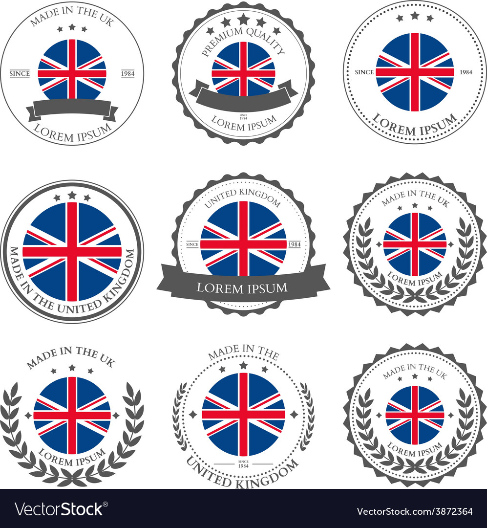 Made in the uk seals badges vector | Price: 1 Credit (USD $1)