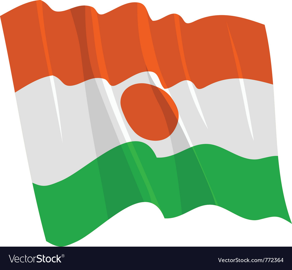 Political waving flag of niger vector | Price: 1 Credit (USD $1)
