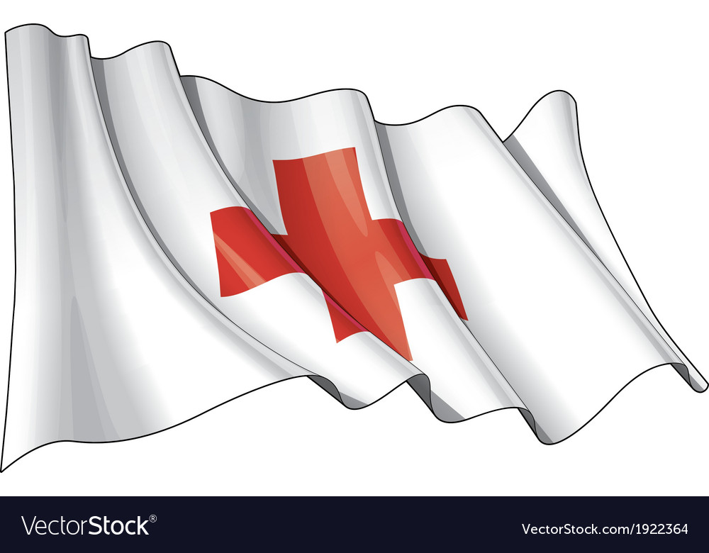 Red cross flag vector | Price: 1 Credit (USD $1)