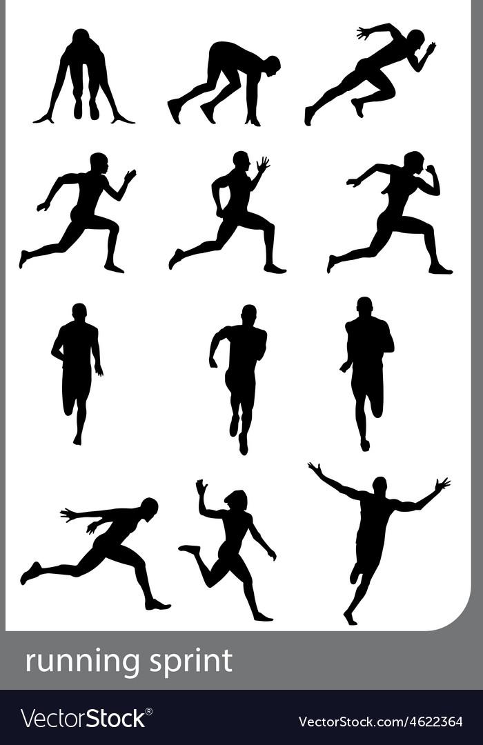 Running sprint man vector   Price: 1 Credit (USD $1)