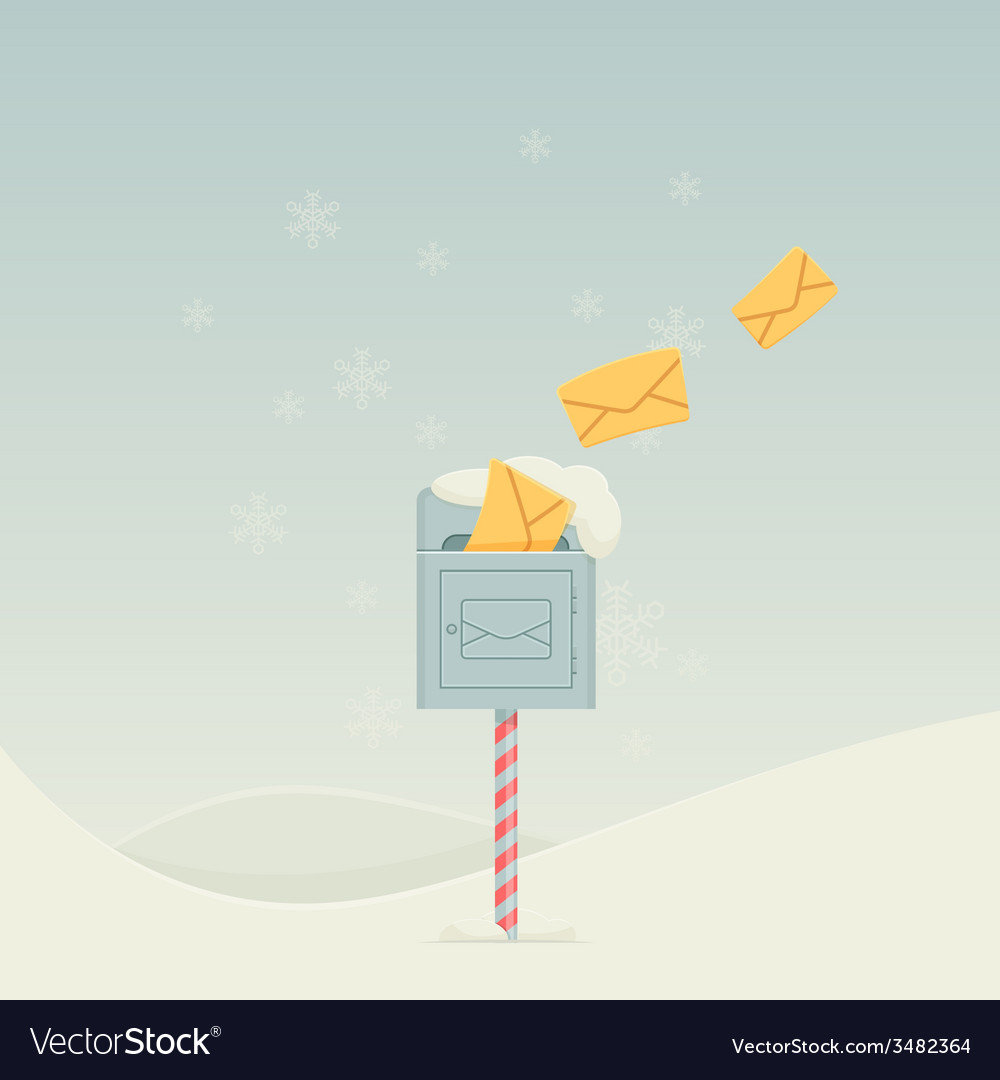 Snowy letterbox vector | Price: 1 Credit (USD $1)