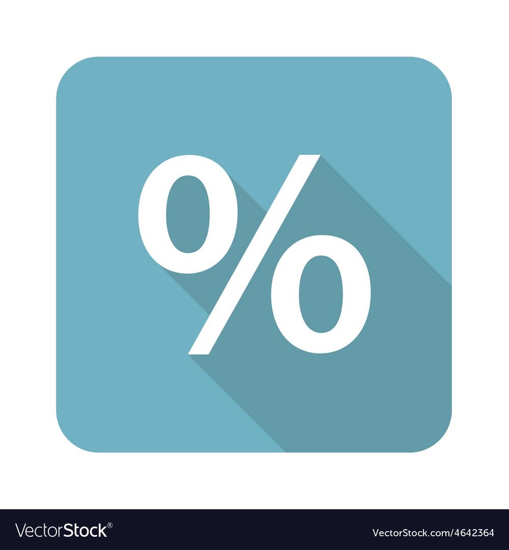 Square percent icon vector | Price: 1 Credit (USD $1)