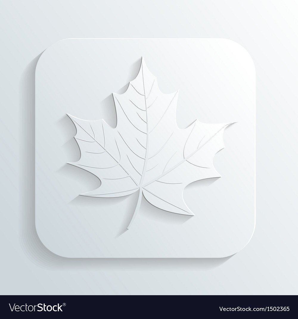 Autumn leaf icon vector | Price: 1 Credit (USD $1)