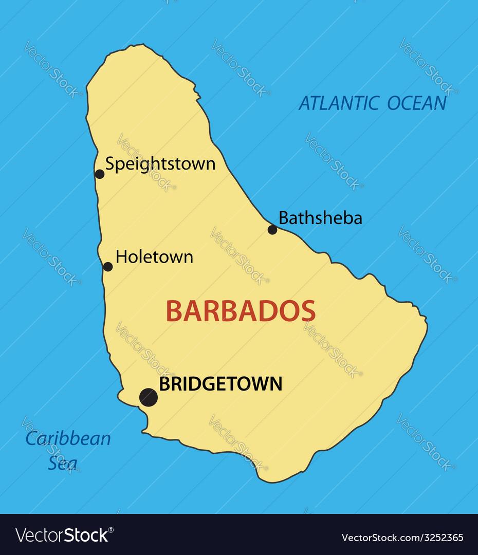 Barbados - map vector | Price: 1 Credit (USD $1)