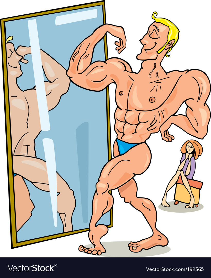 Cartoon muscular man vector | Price: 3 Credit (USD $3)