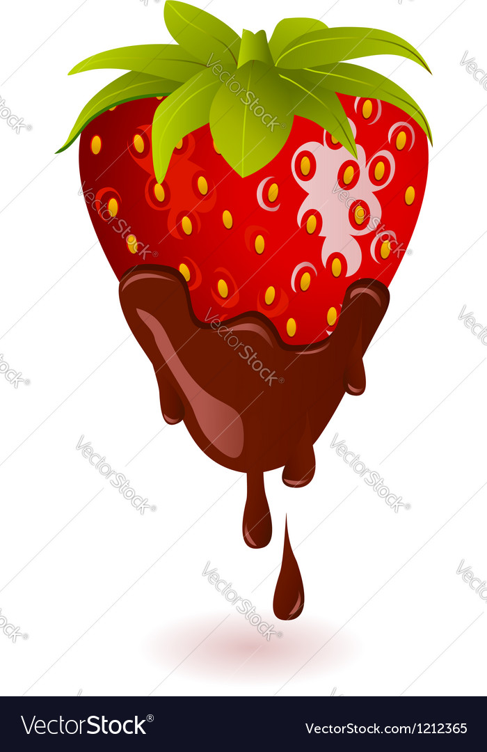 Chocolate dipped strawberry vector | Price: 3 Credit (USD $3)