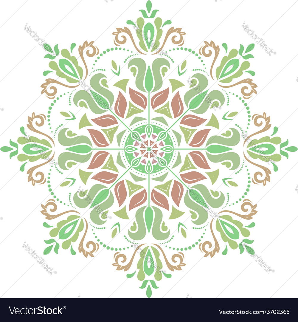 Damask pattern orient colorful ornament vector | Price: 1 Credit (USD $1)