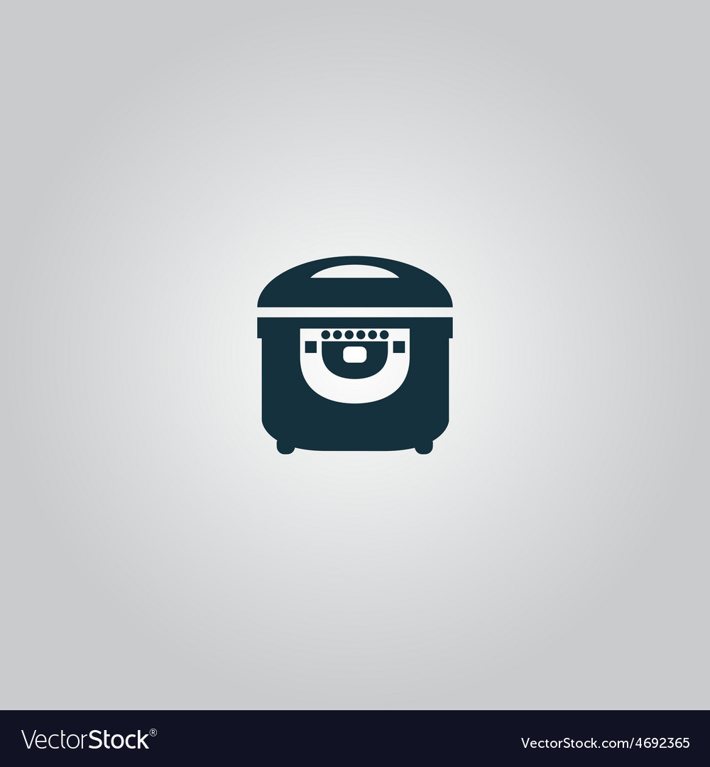 Electric cooker icon on gray background vector   Price: 1 Credit (USD $1)