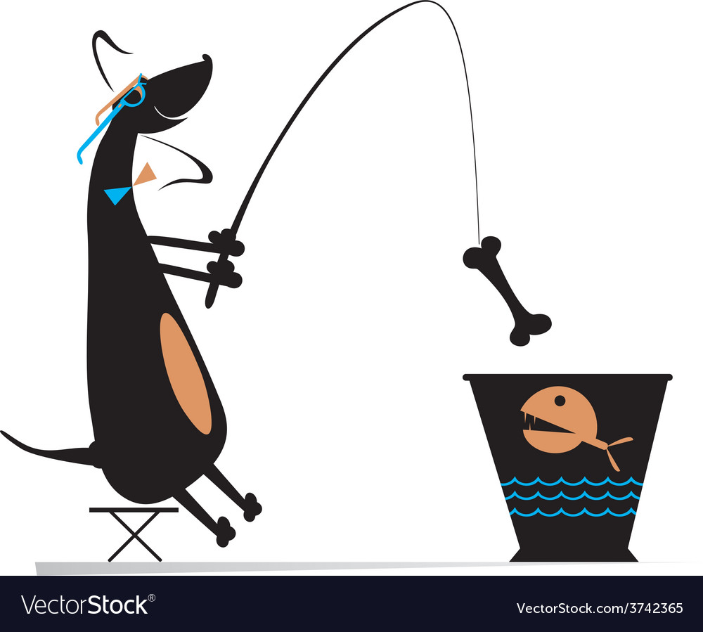 Funny fishing vector | Price: 1 Credit (USD $1)