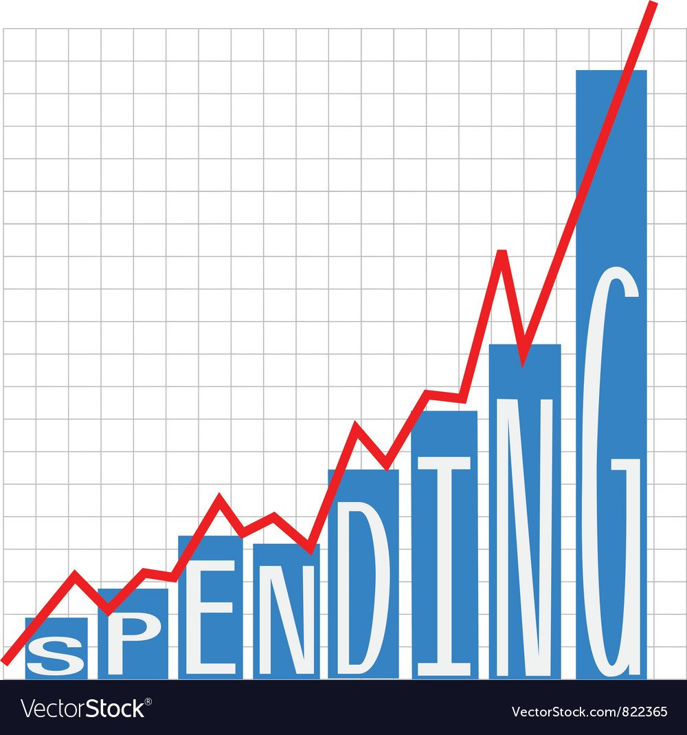 Government big spending chart vector | Price: 1 Credit (USD $1)