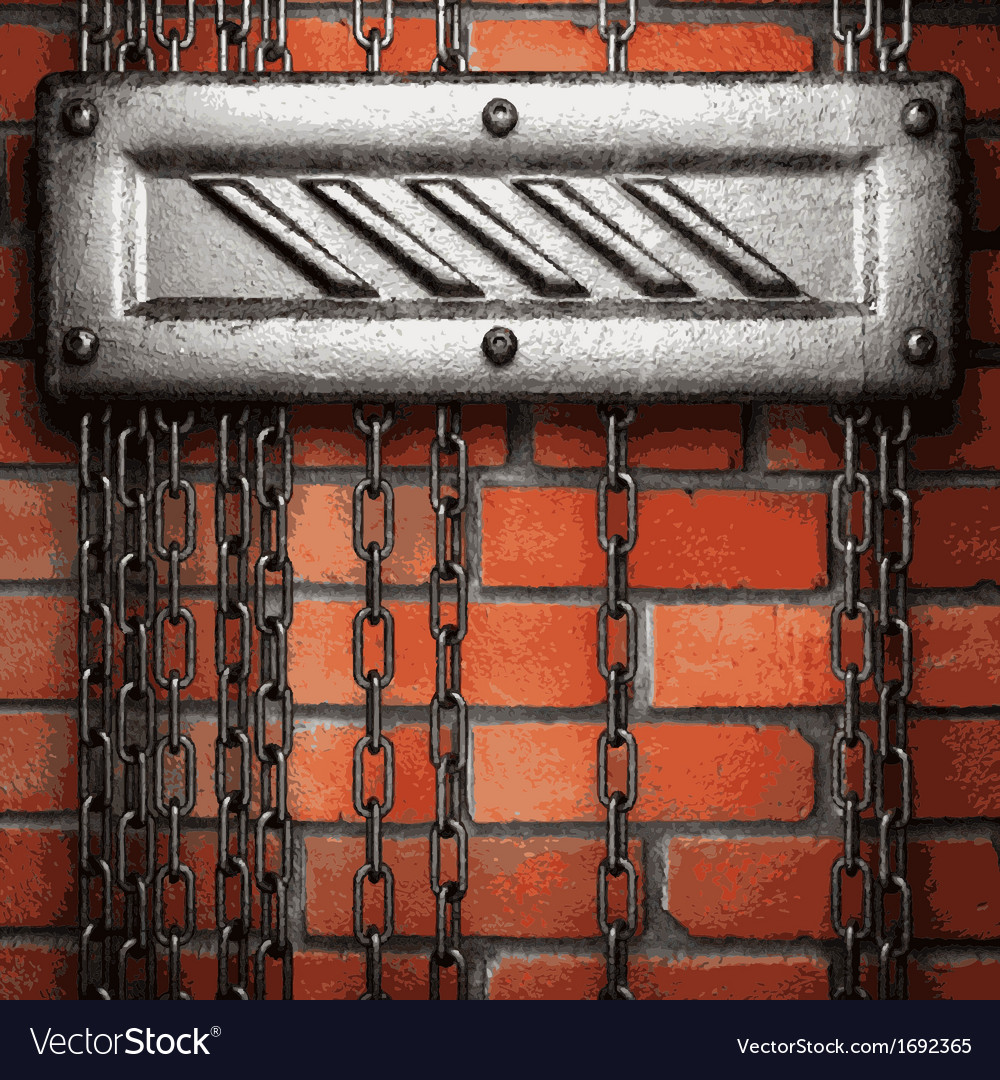 Metal and brick background vector   Price: 1 Credit (USD $1)