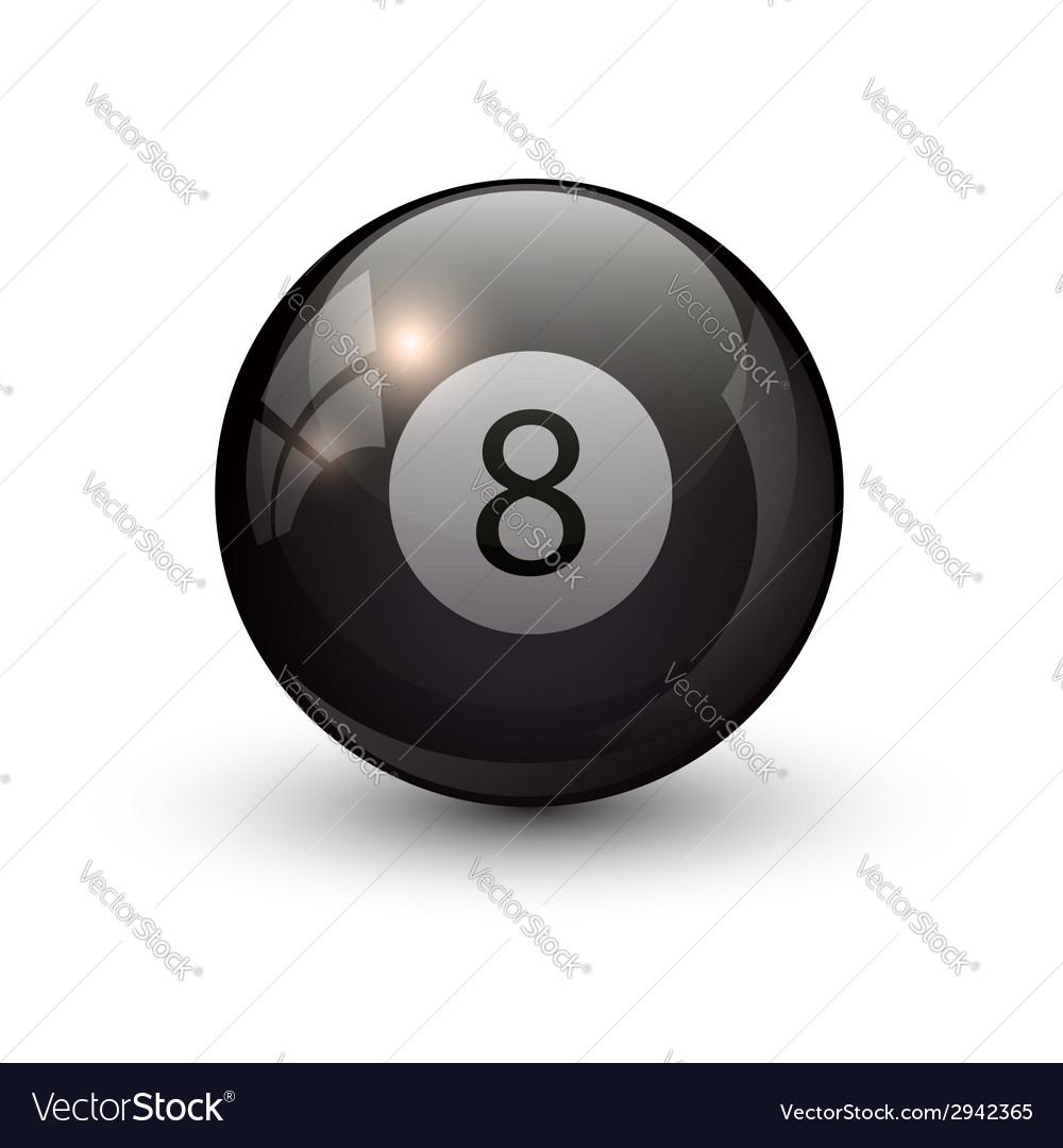 Pool billiards eight ball vector | Price: 1 Credit (USD $1)