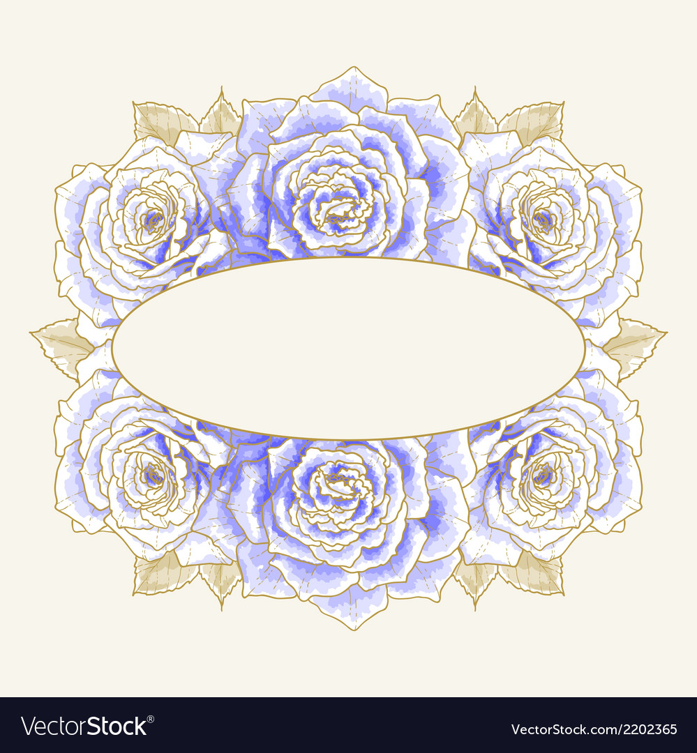 Romantic background with blue roses vector | Price: 1 Credit (USD $1)