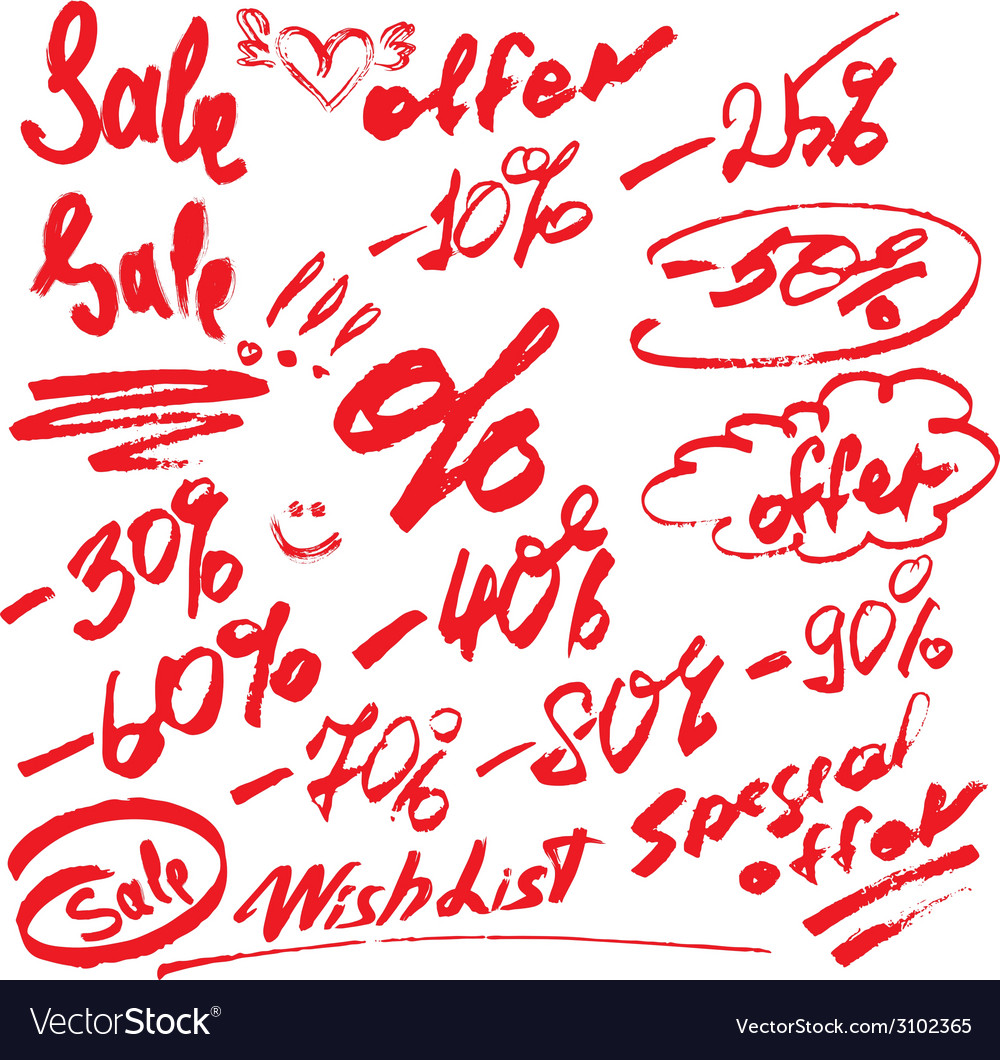 Sale handwritten 380 vector | Price: 1 Credit (USD $1)