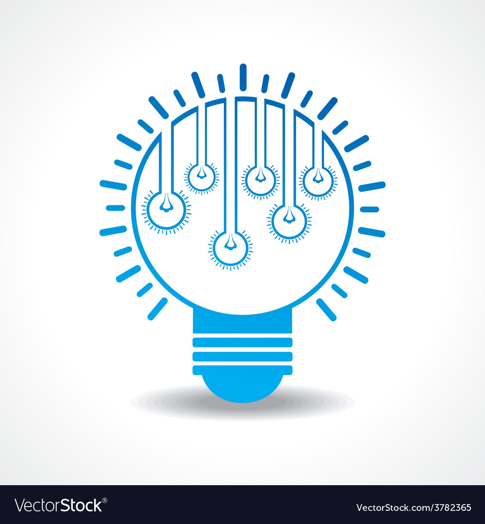 Small light-bulbs in a big bulb vector | Price: 1 Credit (USD $1)