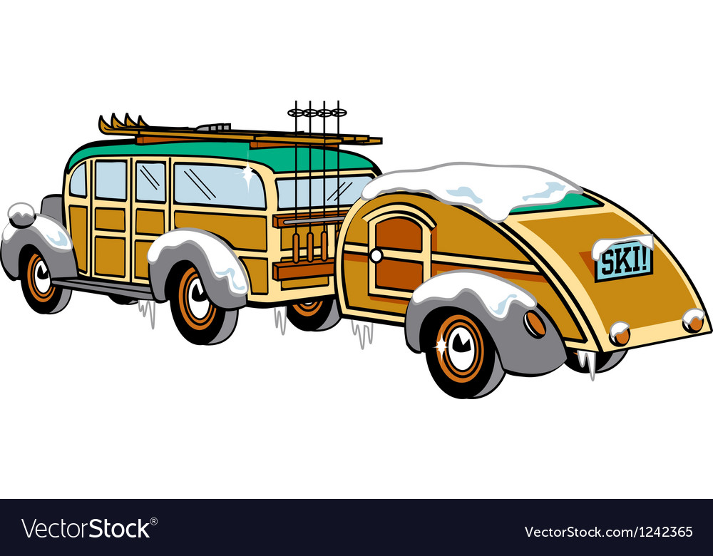 Wooden station wagon vector | Price: 1 Credit (USD $1)