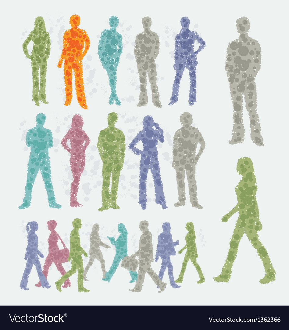 Abstract people silhouettes vector | Price: 1 Credit (USD $1)