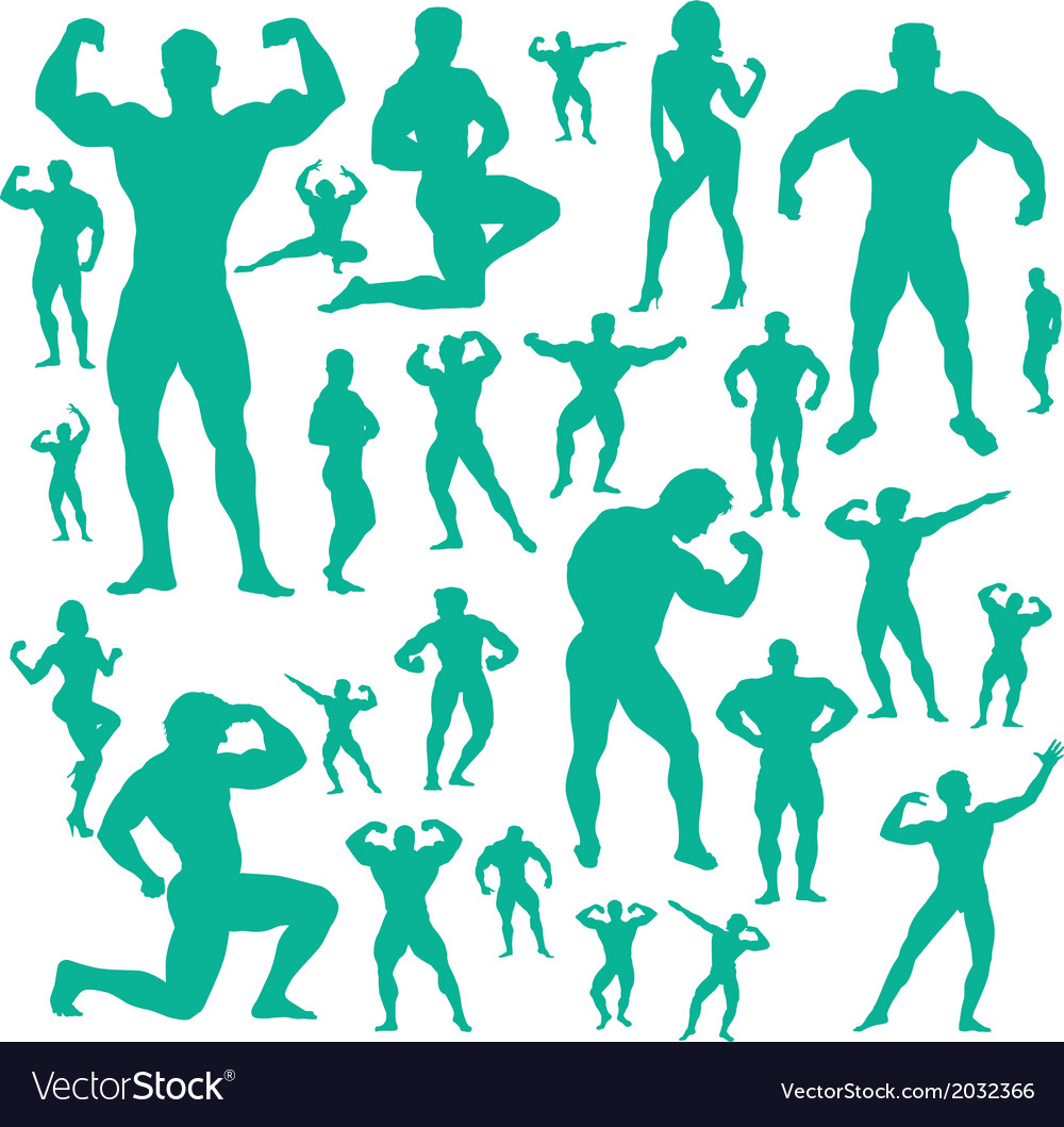 Body builder digital clipart vector | Price: 1 Credit (USD $1)