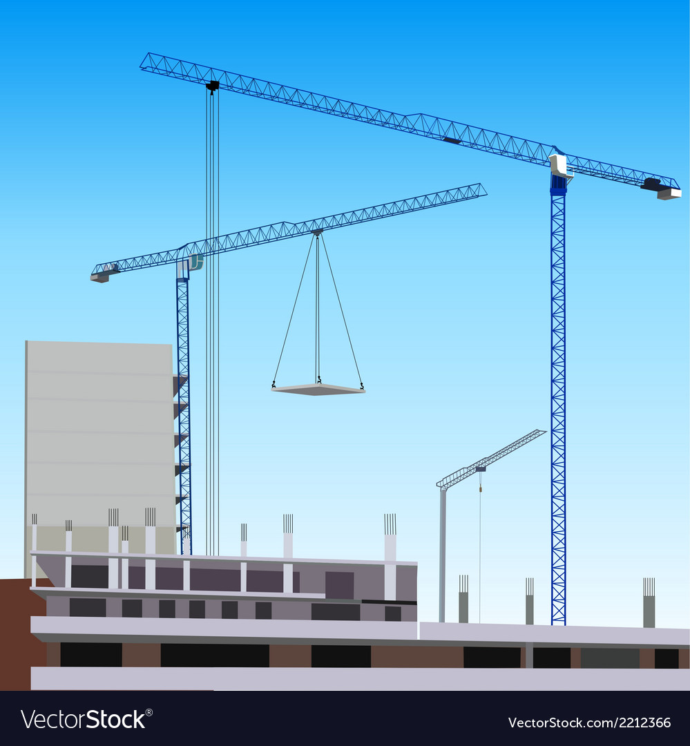 Construction site vector | Price: 1 Credit (USD $1)