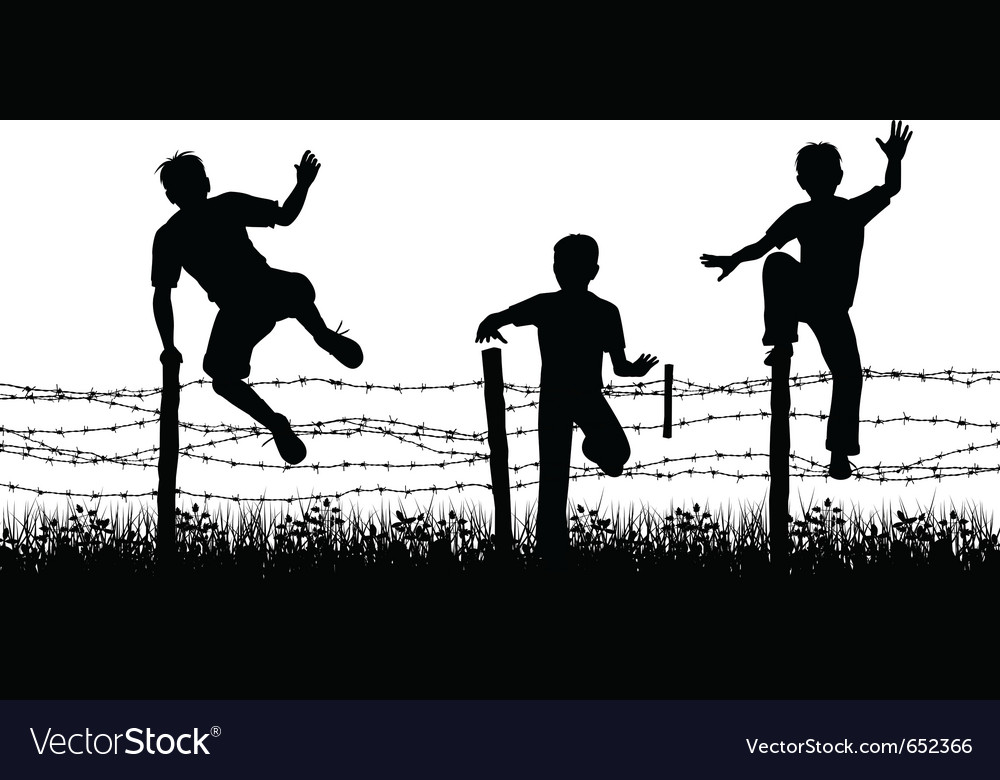Fence boys vector | Price: 1 Credit (USD $1)