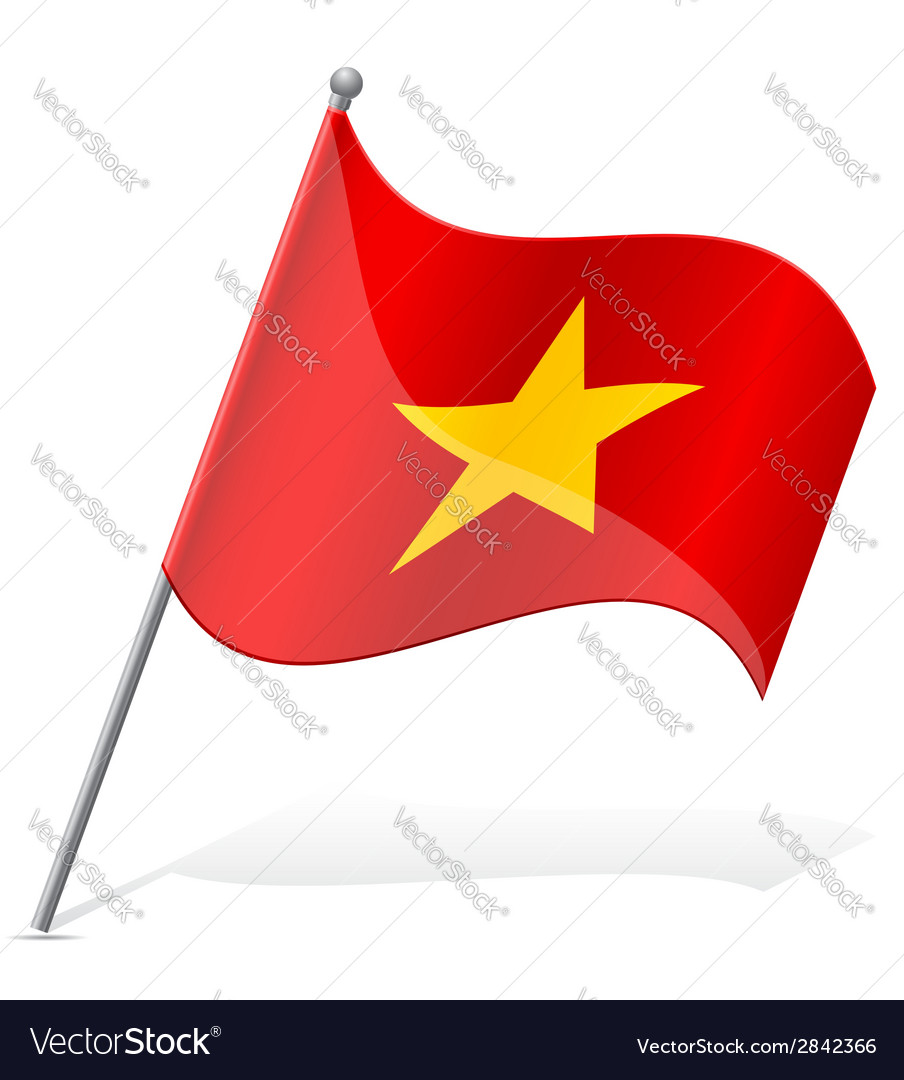Flag of vietnam vector | Price: 1 Credit (USD $1)