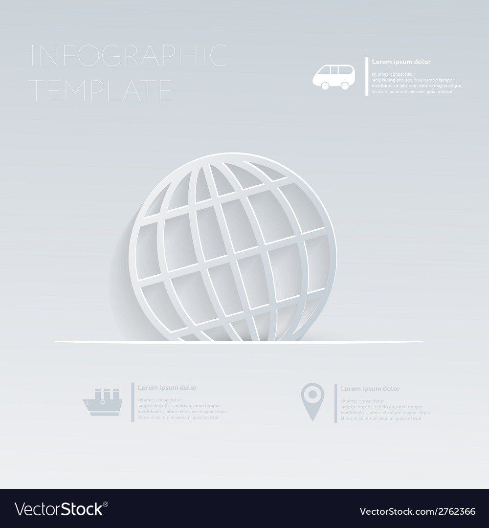 Globe theme holidays template infographic or vector | Price: 1 Credit (USD $1)
