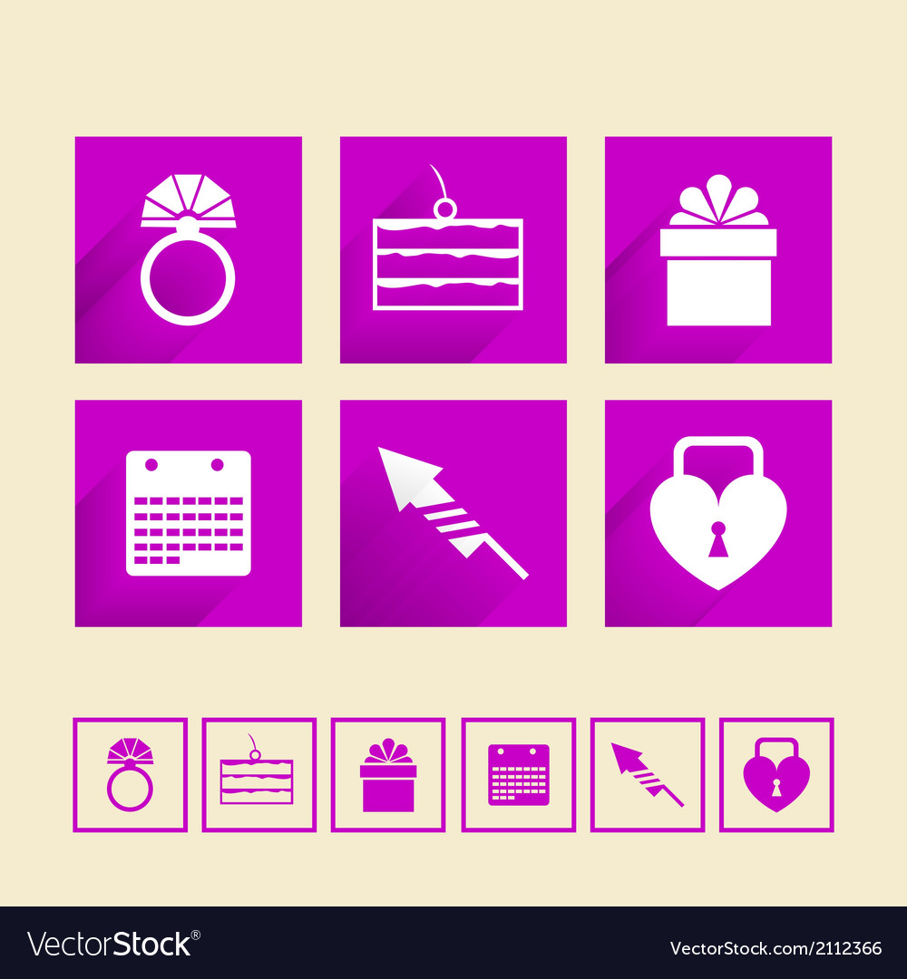 Icons for wedding vector   Price: 1 Credit (USD $1)