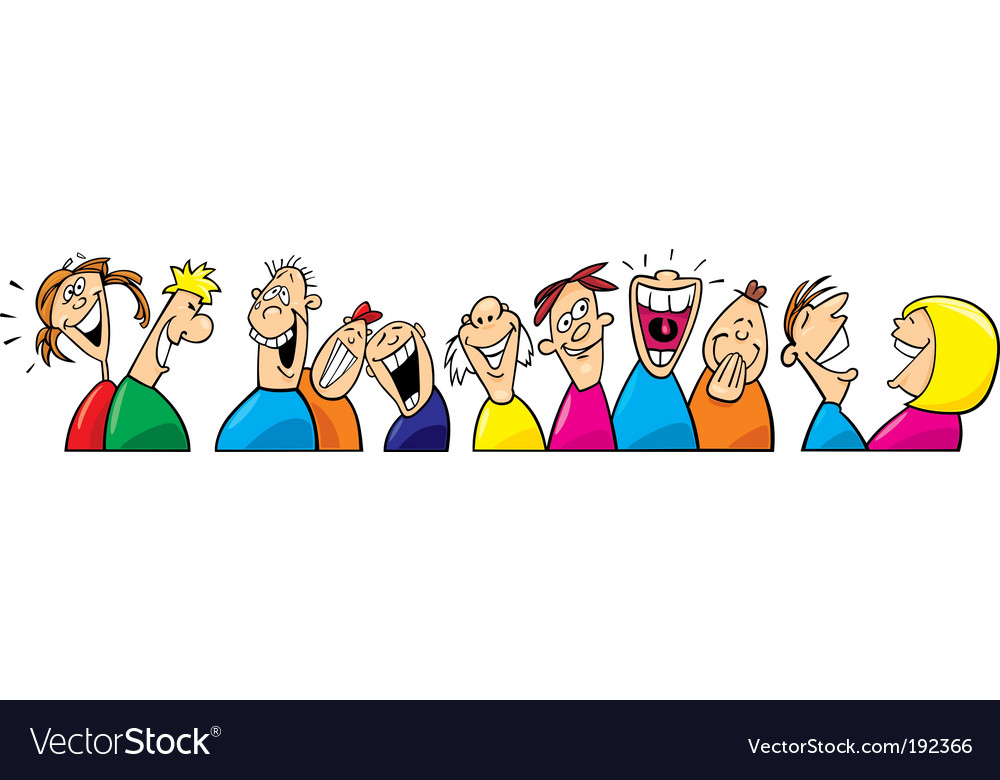Laughing people vector | Price: 3 Credit (USD $3)