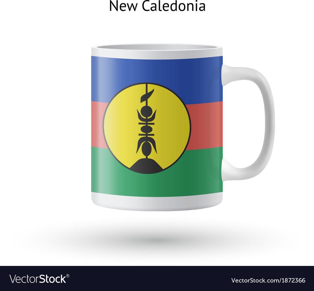 New caledonia flag souvenir mug on white vector   Price: 1 Credit (USD $1)