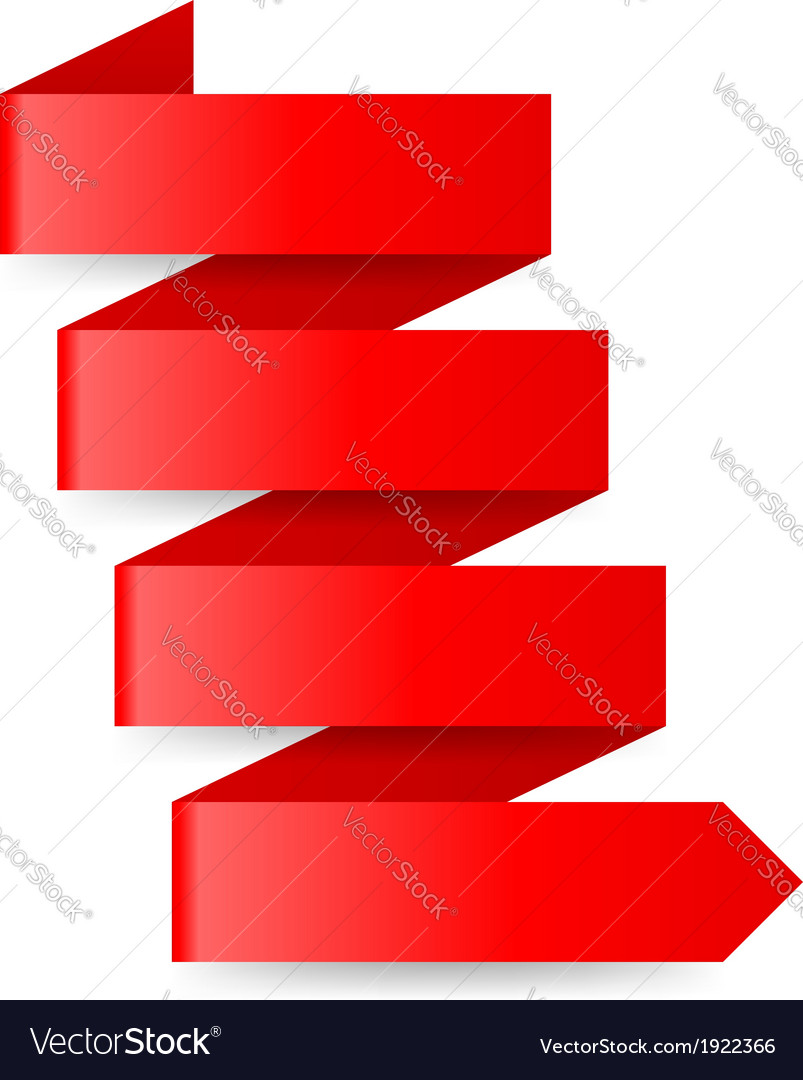 Red paper arrow vector | Price: 1 Credit (USD $1)