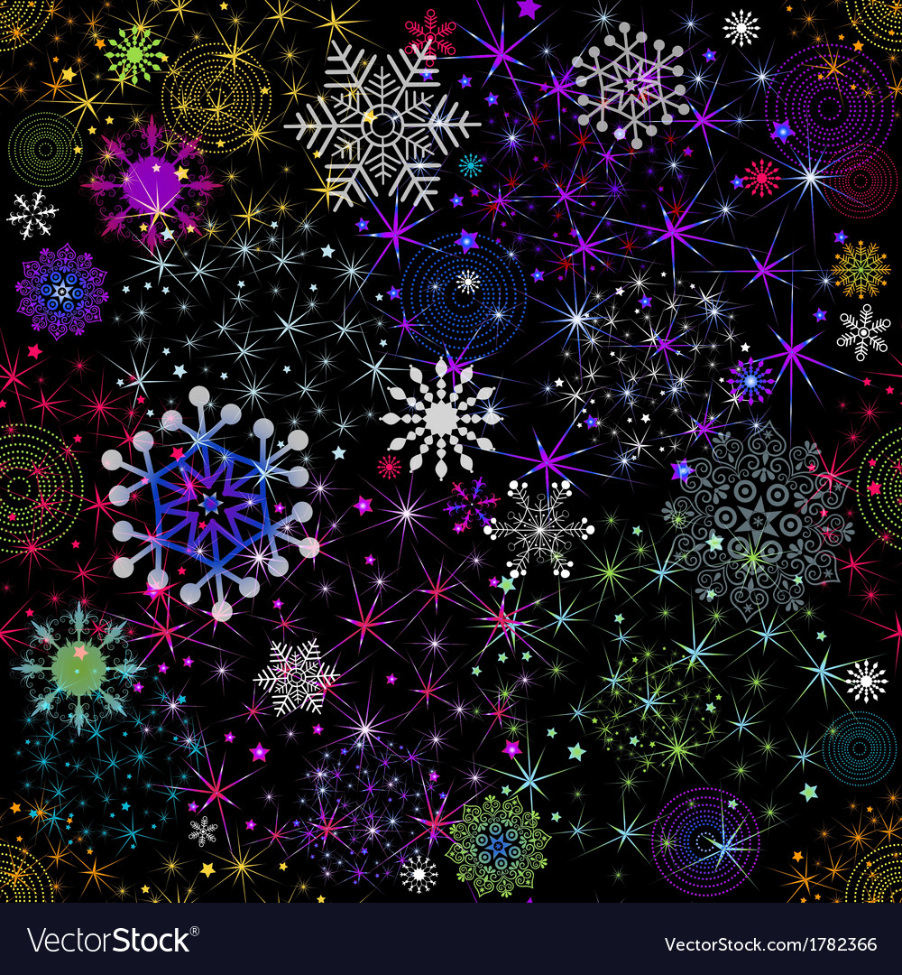 Seamless colorful christmas pattern vector | Price: 1 Credit (USD $1)