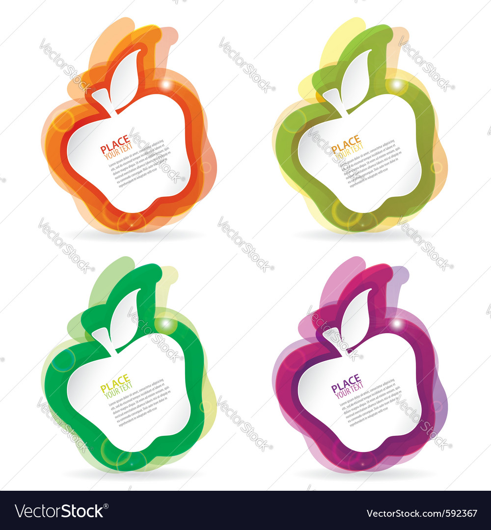 Abstract apple vector | Price: 1 Credit (USD $1)