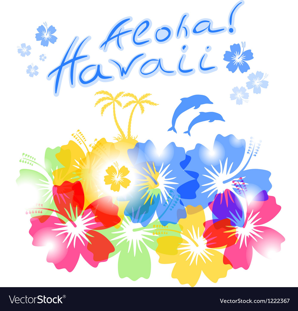 Aloha hawaii background vector | Price: 1 Credit (USD $1)