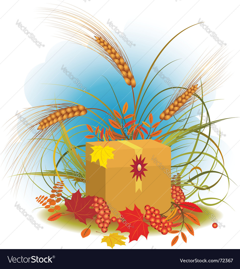 Autumnal gift vector | Price: 1 Credit (USD $1)