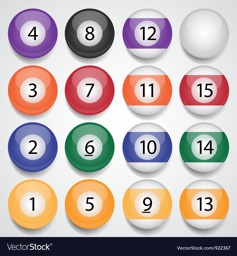 Billiard balls vector | Price: 1 Credit (USD $1)
