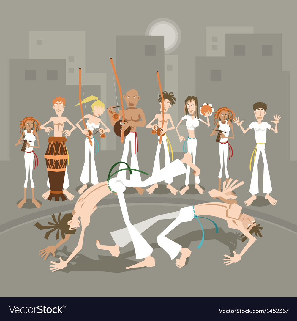 Brazilian martial art capoeira vector | Price: 3 Credit (USD $3)