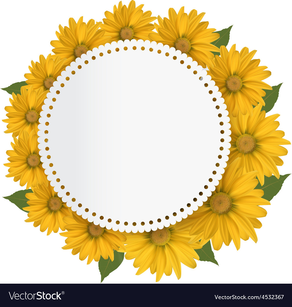 Celebration background with yellow flowers vector   Price: 1 Credit (USD $1)