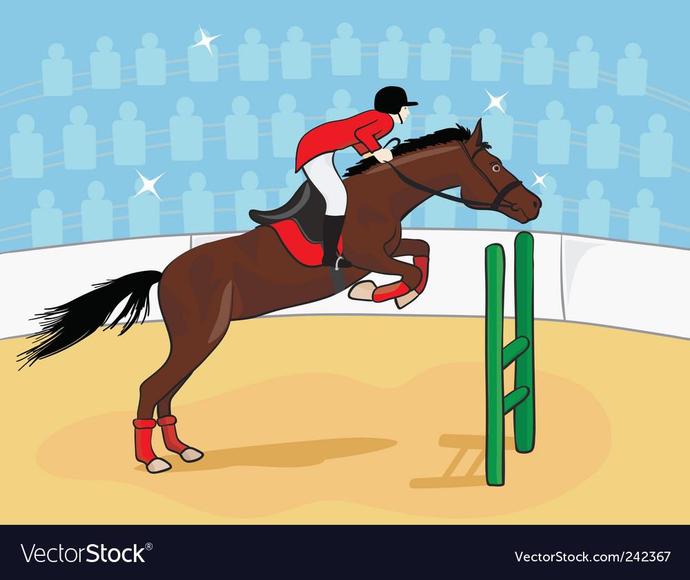 Equestrian rider vector | Price: 1 Credit (USD $1)