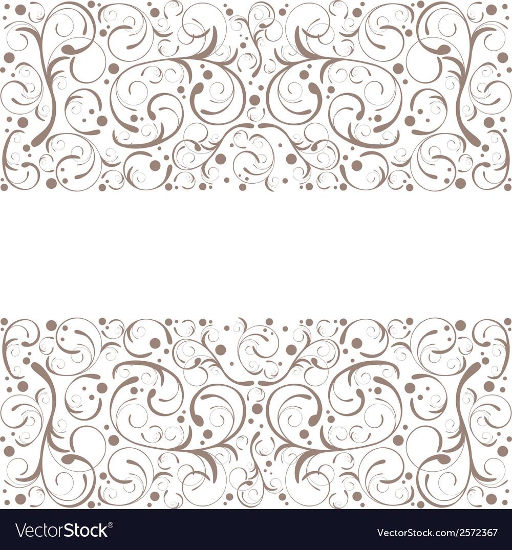 Floral decorative frame vector