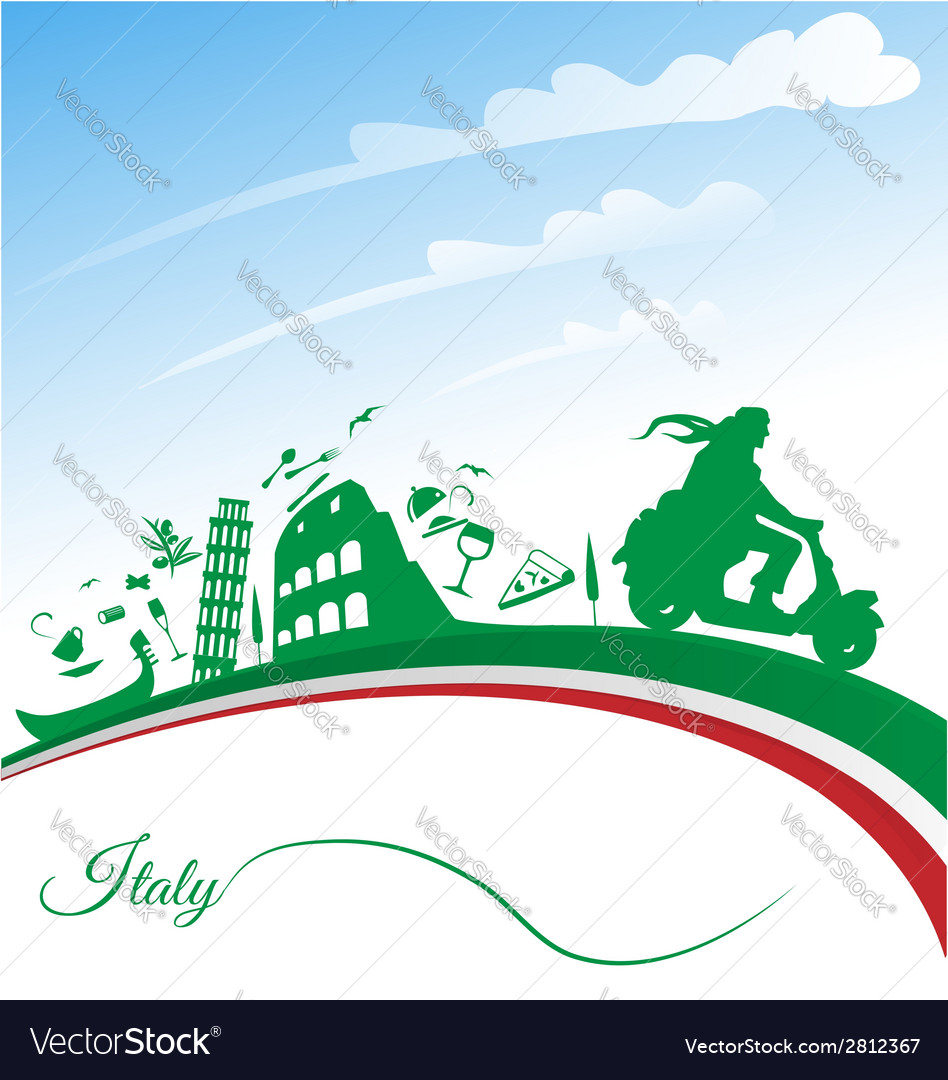 Italian holidays background vector | Price: 1 Credit (USD $1)