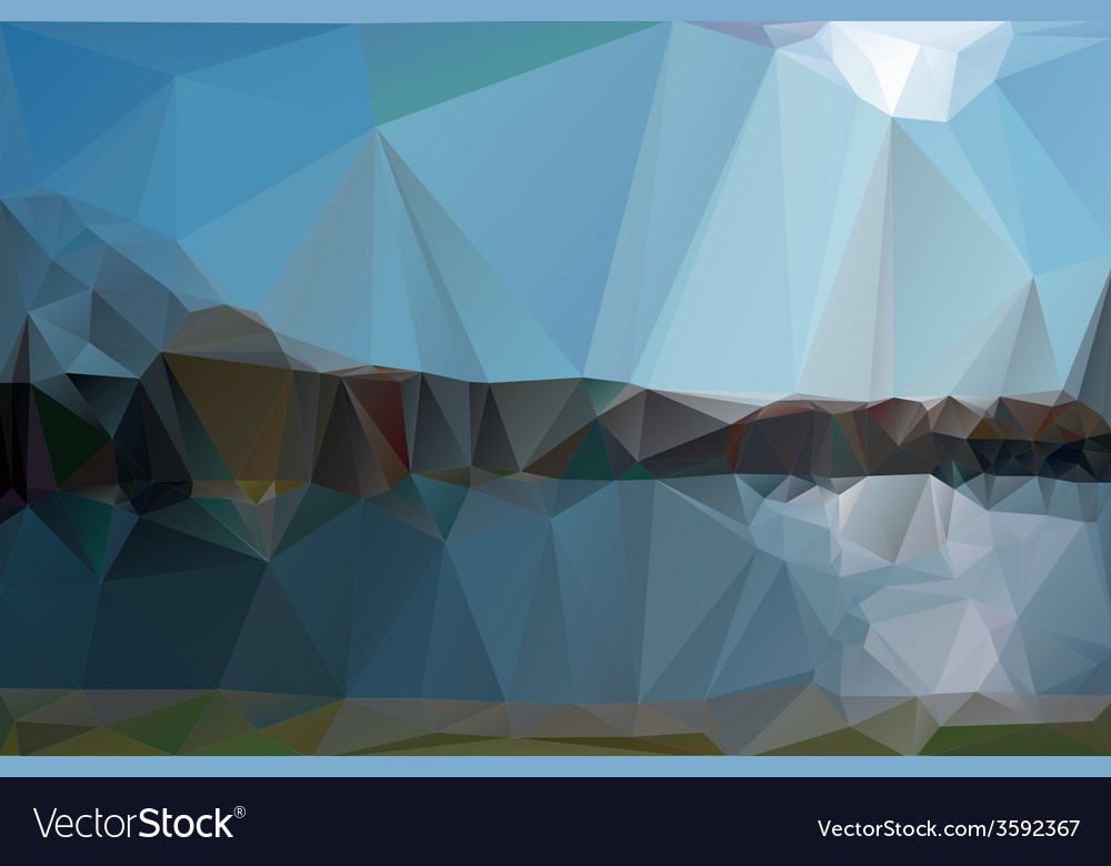Landscape in a minimalist style vector | Price: 1 Credit (USD $1)