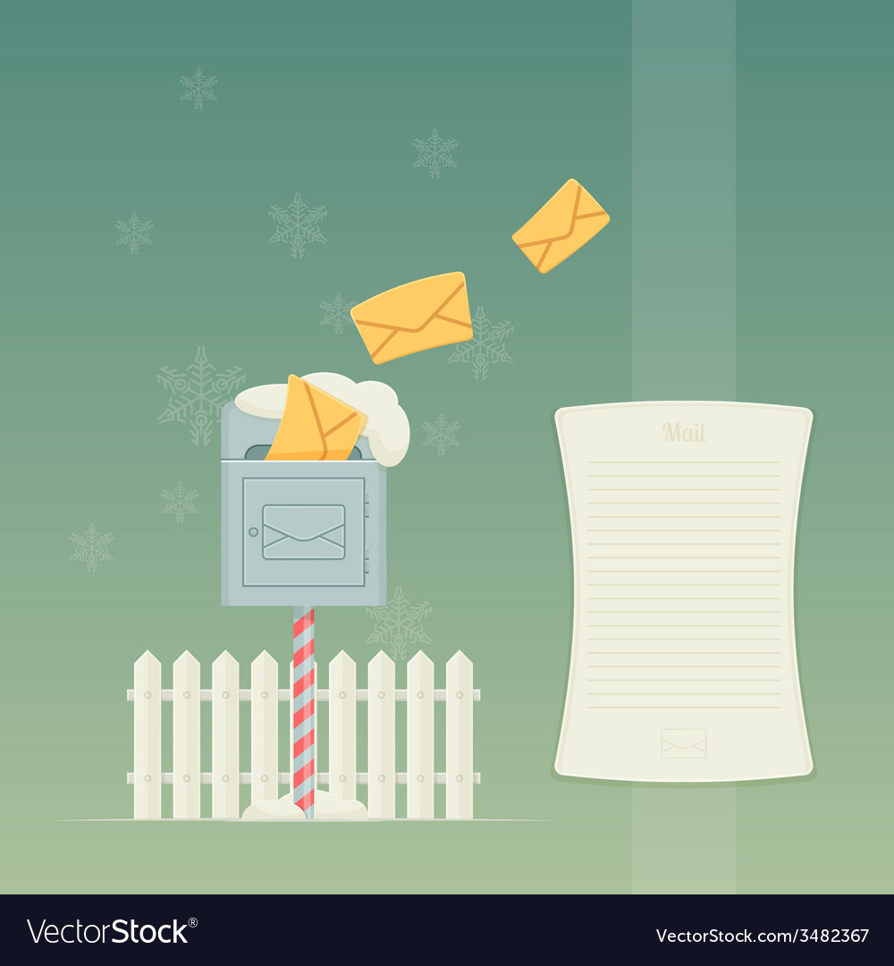Letterbox and fence vector | Price: 1 Credit (USD $1)