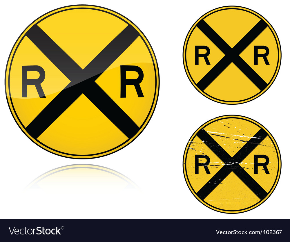 Level crossing sign vector | Price: 1 Credit (USD $1)
